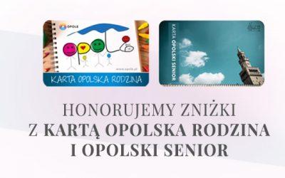Zniżki z kartą Opolska Rodzina i Opolski Senior